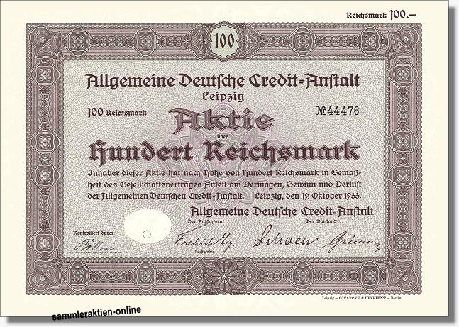 Allgemeine Deutsche Credit-Anstalt - ADCA - Rabobank