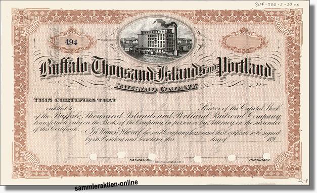 Buffalo Thousand Islands an Portland Railroad Company