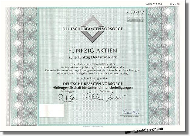 Deutsche Beamtenvorsorge AG