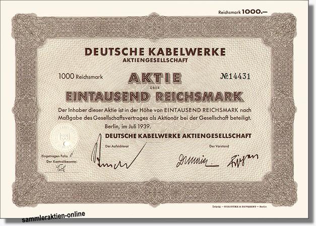 Deutsche Kabelwerke AG - AEG-Telefunken