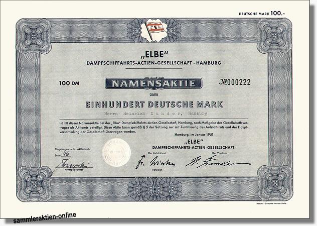 Elbe Dampfschiffahrts-Actien-Gesellschaft