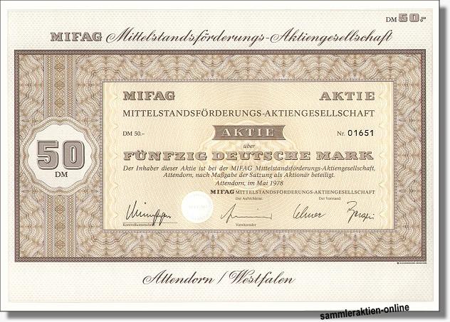 MIFAG Mittelstandsförderungs-AG