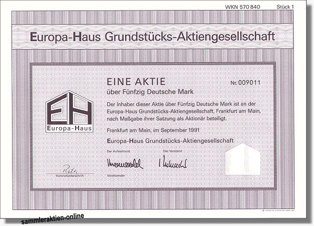 Europa-Haus Grundstücks-AG