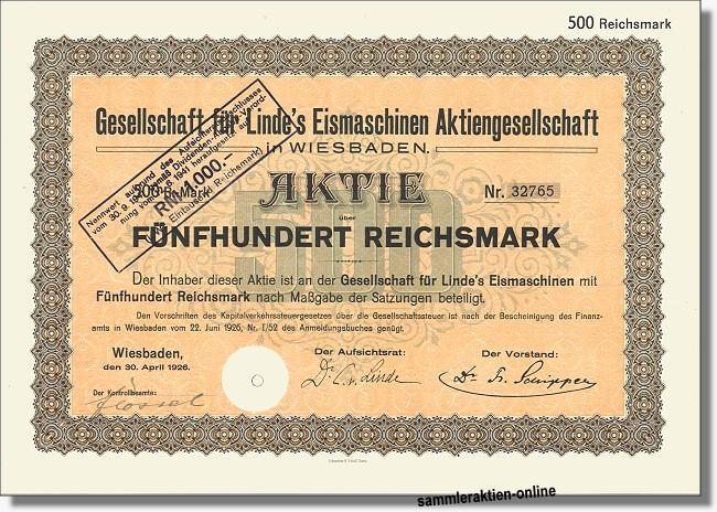 Gesellschaft für Linde's Eismaschinen - Linde AG