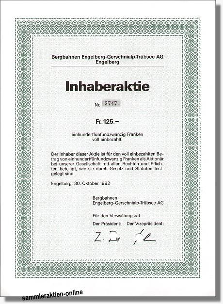 Bergbahnen Engelberg-Gerschnialp-Trübsee AG