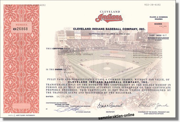 Cleveland Indians Baseball Company