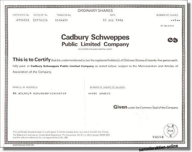 Cadbury Schweppes PLC