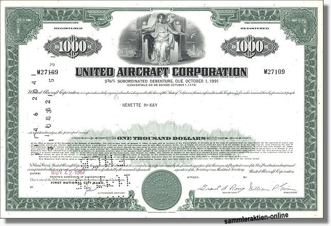 United Aircraft Corporation - United Technologies