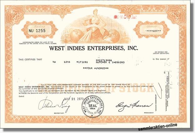 West Indies Enterprises Inc.
