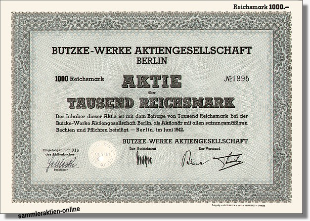 Butzke Werke AG