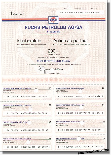 Fuchs Petrolub AG/SA