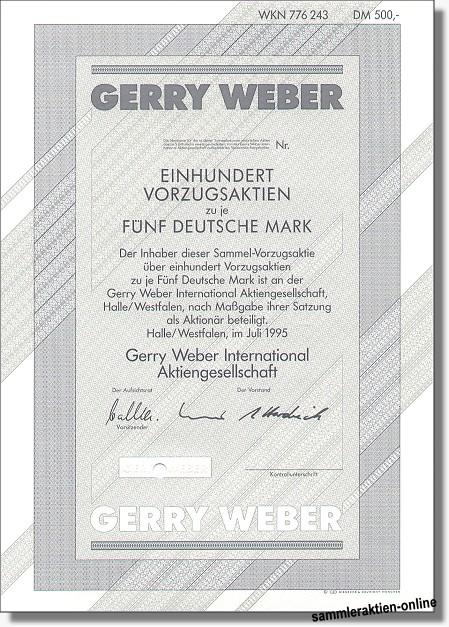 Gerry Weber International Aktiengesellschaft