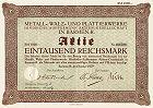 Metall-, Walz und Plattierwerke AG Hindrichs-Auffermann