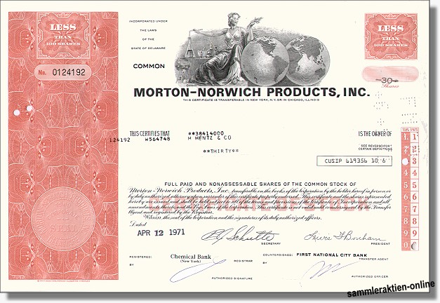 Morton-Norwich Products Inc.<br><b>jetzt Procter & Gamble</b>
