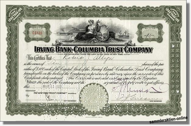 Irving Bank-Columbia Trust Company