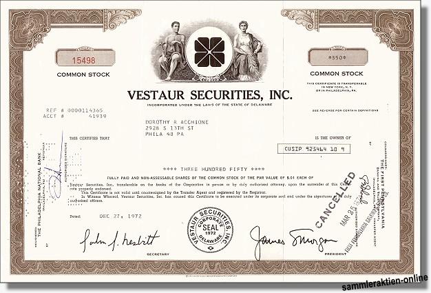 Vestaur Securities Inc.