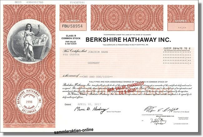 Berkshire Hathaway Aktie A