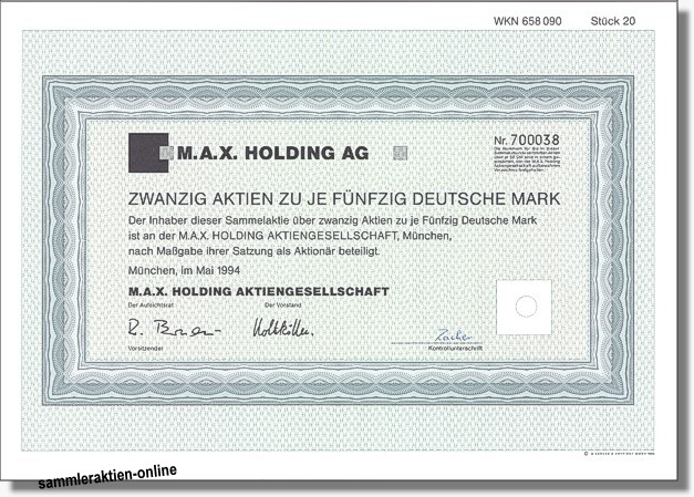 M.A.X. Holding AG