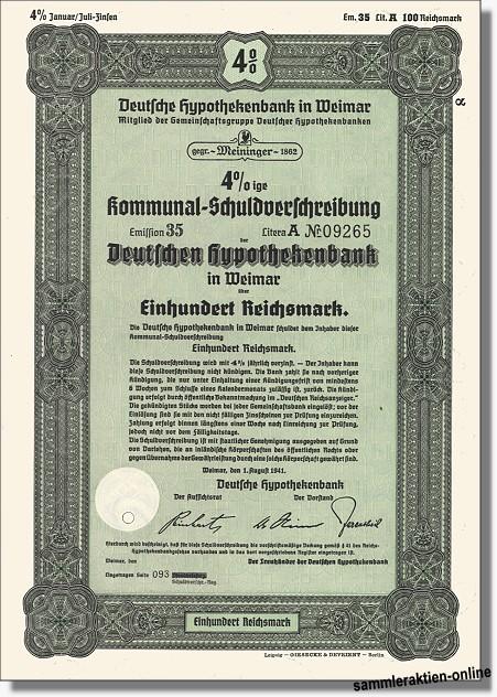 Deutsche Hypothekenbank in Weimar