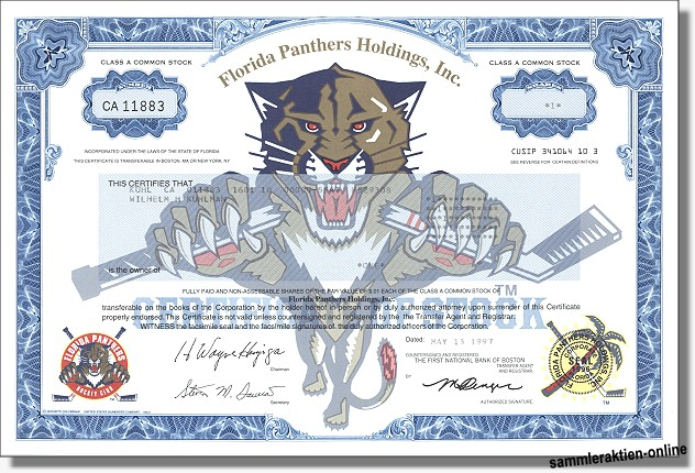 Florida Panthers Holdings Inc.