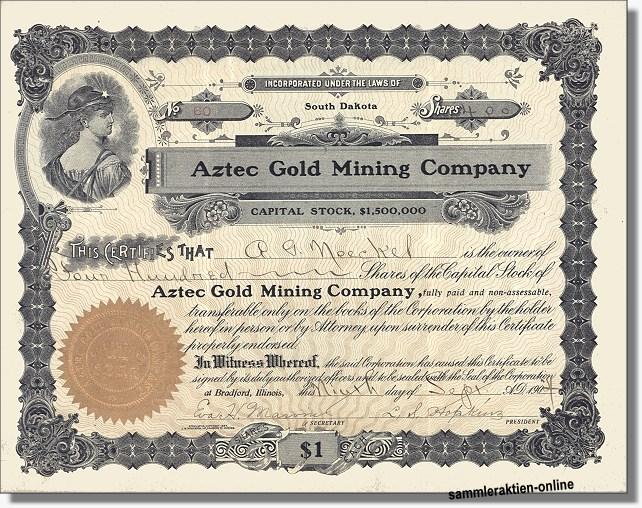 alte Goldminenakte