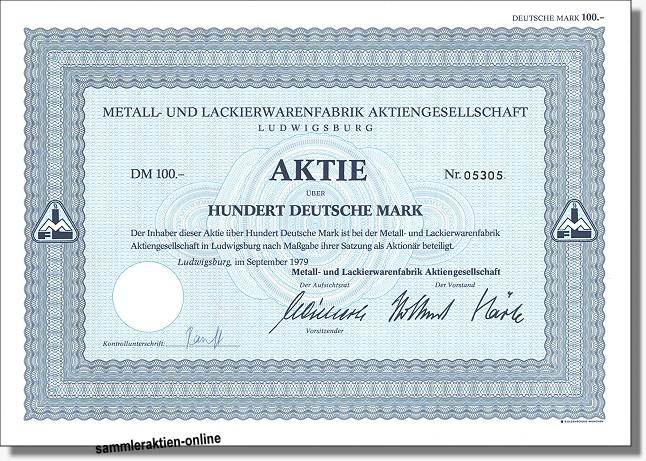 Metall- und Lackierwarenfabrik AG
