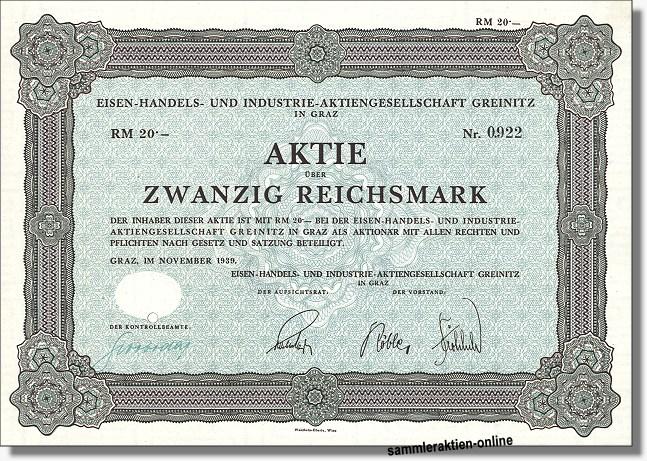 Eisen-Handels- und Industrie-AG Greinitz