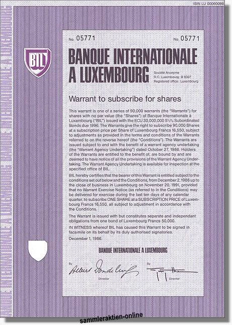 Banque Internationale a Luxembourg