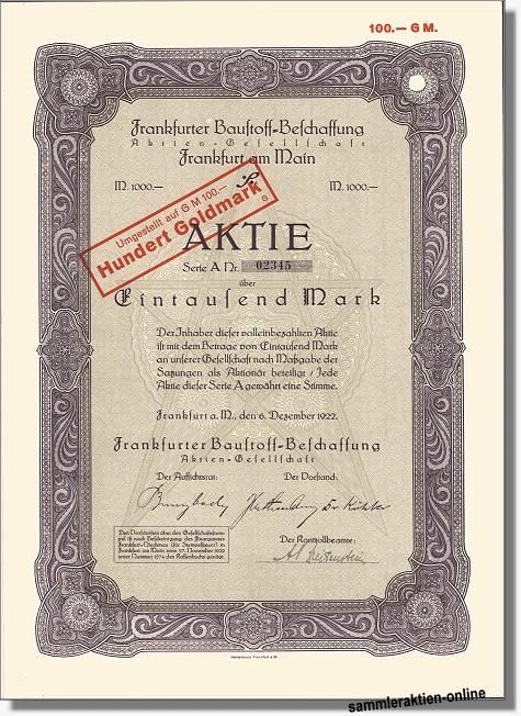 Frankfurter Baustoff-Beschaffung AG