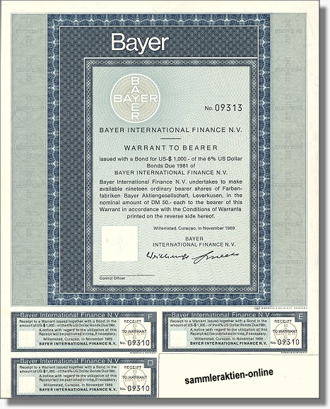 Bayer AG - Bayer International Finance N.V.