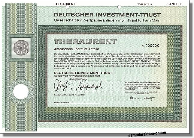 Deutscher Investment Trust - DIT Thesaurent