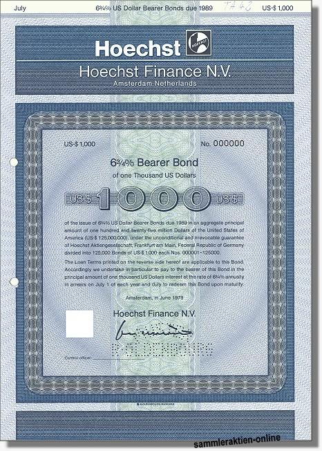 Hoechst Finance N.V.
