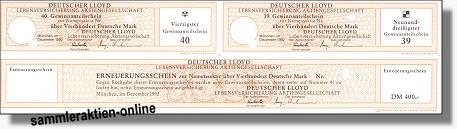 buy sale new arrival super quality Deutscher Lloyd Lebensversicherung AG letzte Emission der ...