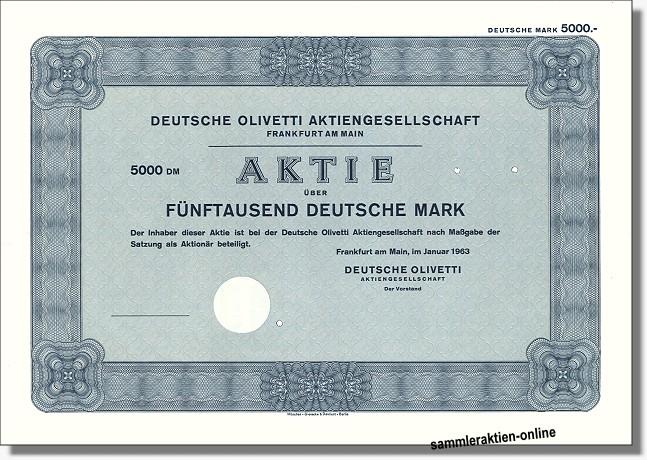 Deutsche Olivetti Aktiengesellschaft