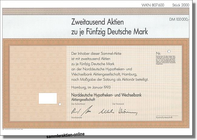 Norddeutsche Hypotheken- und Wechselbank AG