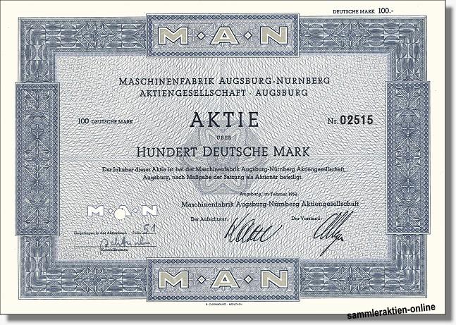 MAN AG Maschinenfabrik Augsburg-Nürnberg
