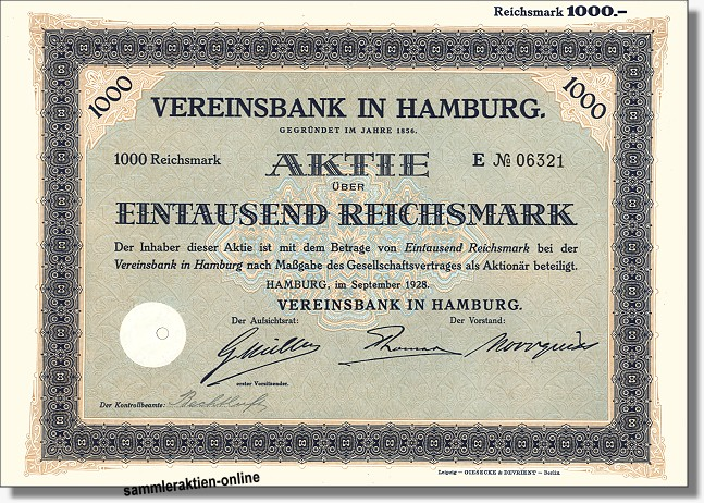 Vereinsbank in Hamburg