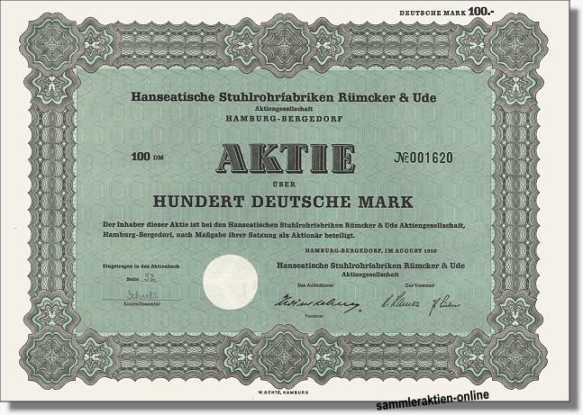 Hanseatische Stuhlrohrfabriken Rümcker & Ude