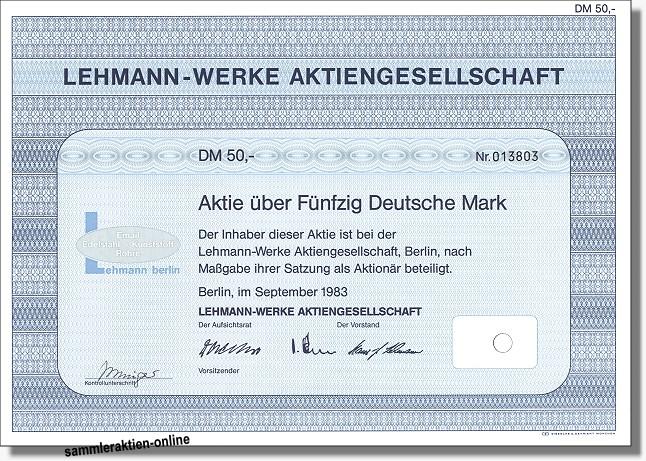 Lehmann-Werke Aktiengesellschaft