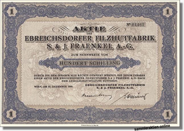 Ebreichsdorfer Filzhutfabrik S. & J. Fraenkel AG