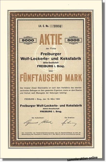 Freiburger Wolf-Leckerle- und Keksfabrik AG