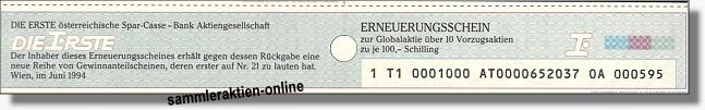 Erste Bank der oesterreichischen Sparkassen AG