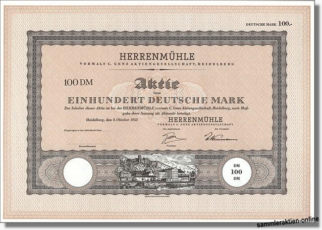 Herrenmühle vormals C. Genz AG
