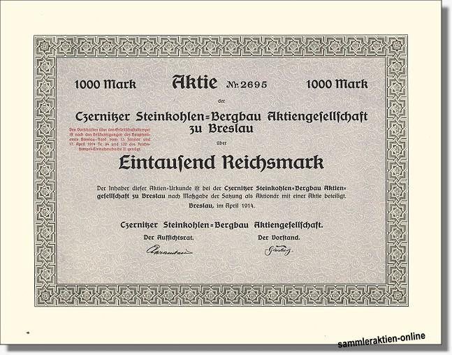 Czernitzer Steinkohlen-Bergbau Aktiengesellschaft