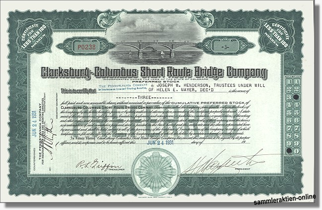 Clarksburg-Columbus Short Route Bridge Company