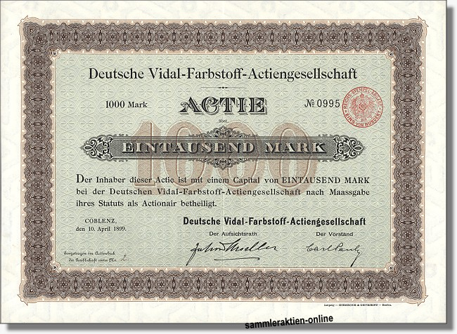Deutsche Vidal-Farbstoff-Actiengesellschaft