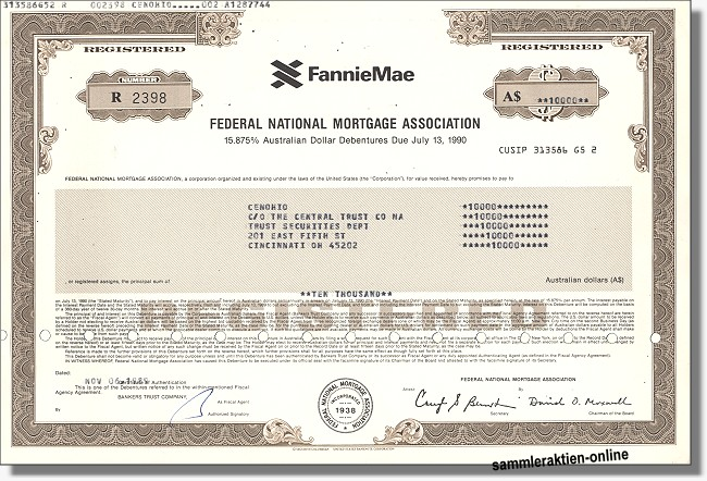 Fannie Mae - Federal National Mortgage Association