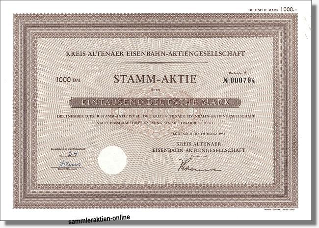 Kreis Altenaer Eisenbahn-Aktiengesellschaft