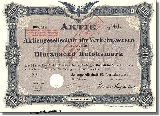 Aktiengesellschaft für Verkehrswesen - AGIV