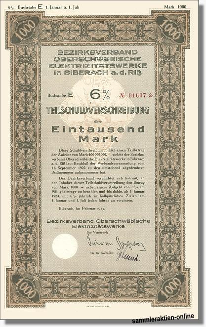 Bezirksverband Oberschwäbische Elektrizitätswerke - ENBW